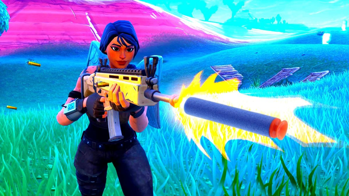 get victory irl with fortnite nerf blasters and a monopoly
