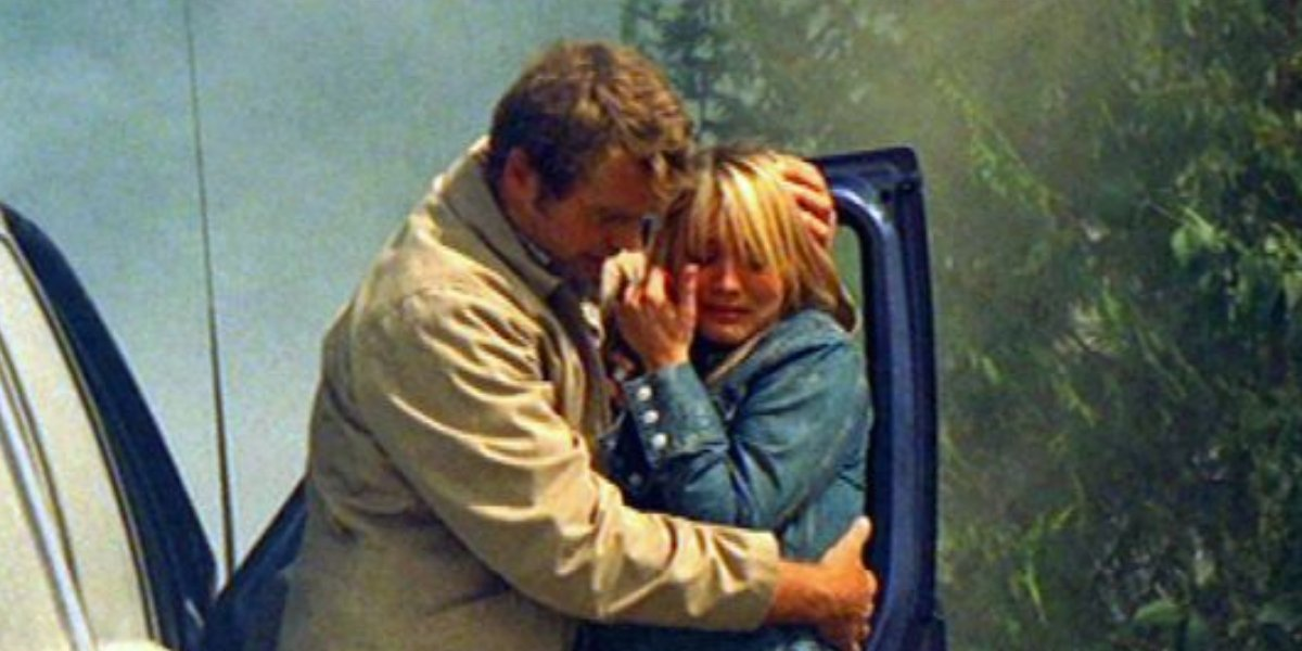 John Schneider and Kaley Cuoco in 10.5