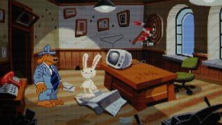 Sam and Max in Max's office