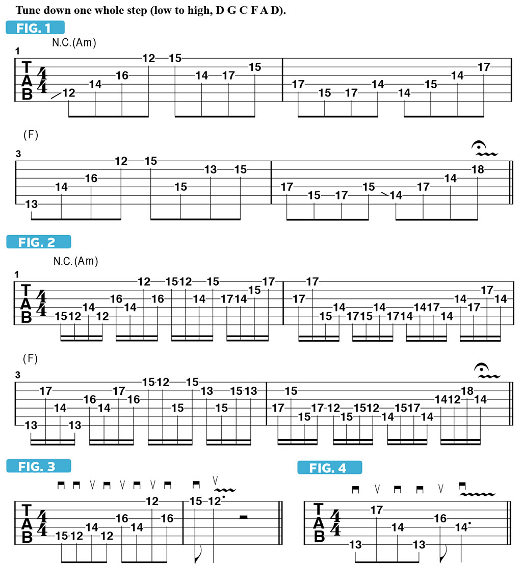 Unusual and Challenging String-Skipping Patterns | Guitarworld