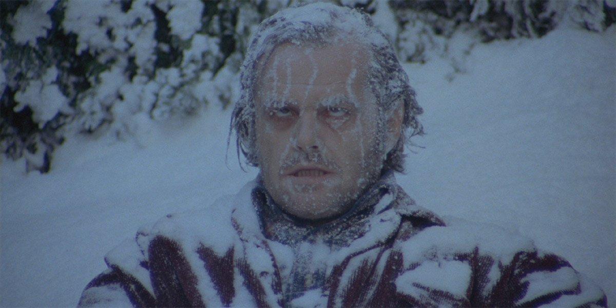 Jack Nicholson as Jack Torrance frozen to death in The Shining