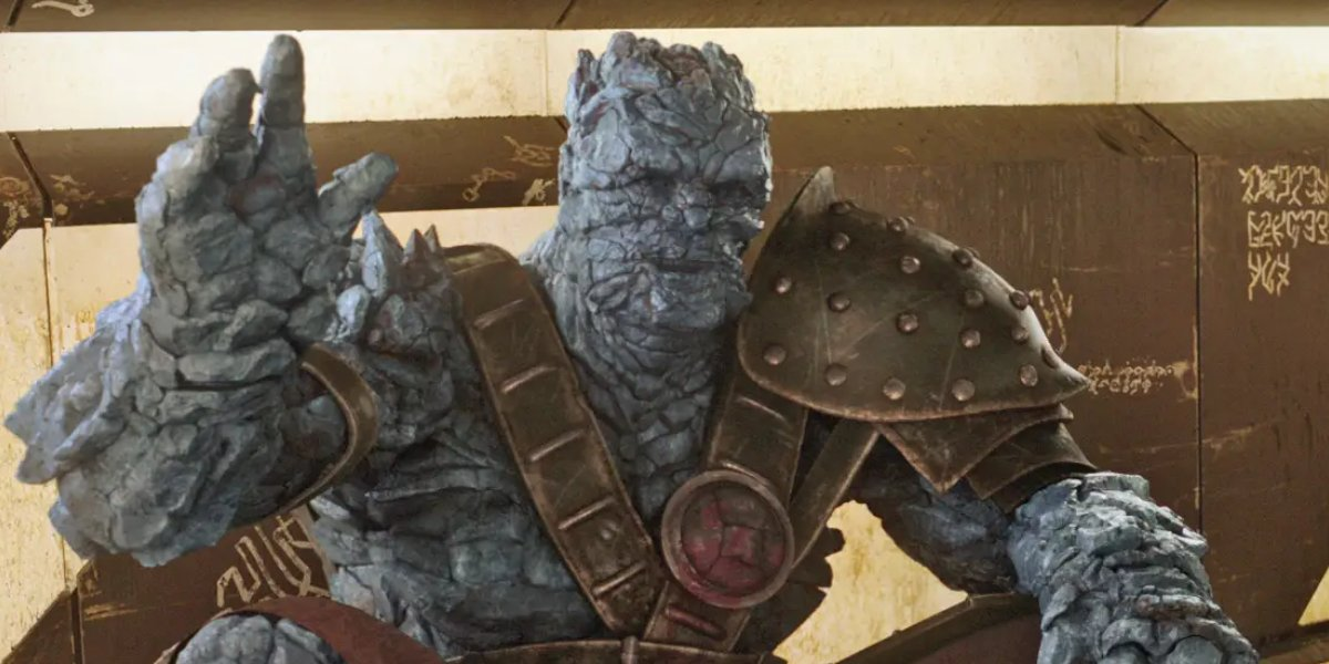 Taika Waititi as Korg in Thor: Ragnarok