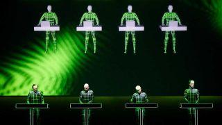 Kraftwerk performing in 3-D with lasers