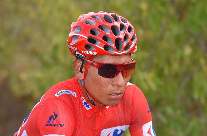 Nairo Quintana (Movistar) focussed on keeping his Vuelta a Espana lead