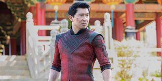 Simu Liu as Shang Chi in costume in Legend of the Ten Rings