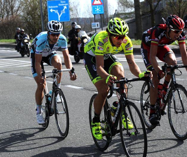 Filippo Pozzato, Alessandro Ballan and Tom Boonen, Tour of Flanders 2012