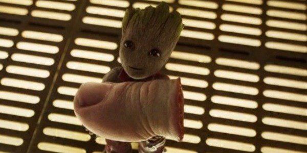 Baby Groot and the toe