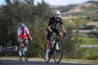 IMOLA ITALY SEPTEMBER 26 Niamh FisherBlack of New Zealand during the 93rd UCI Road World Championships 2020 Women Elite Road Race a 143km race from Imola to Imola Autodromo Enzo e Dino Ferrari ImolaEr2020 Imola2020 on September 26 2020 in Imola Italy Photo by Tim de WaeleGetty Images