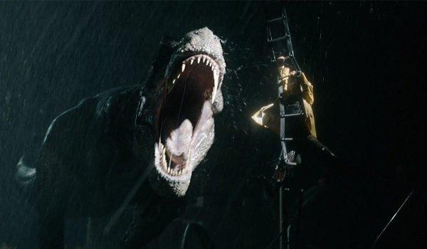 Jurassic World: Fallen Kingdom Rexy chases a midnight snack