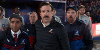 Nick Mohammed, Jason Sudeikis, and Brendan Hunt on Ted Lasso