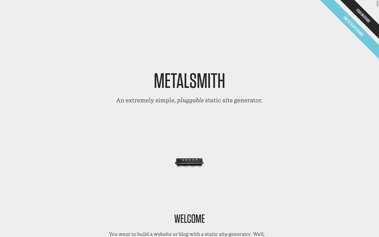 Metalsmith homepage