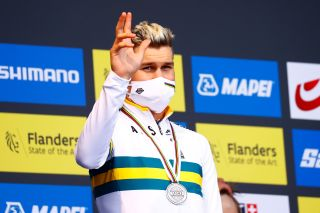 Luke Plapp (Australia) won the silver in the Under 23 time trial world championships