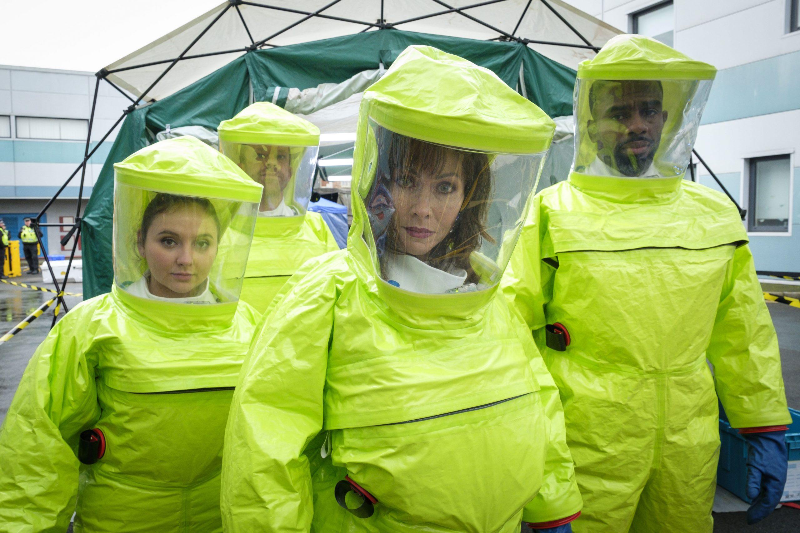 Connie, Jacob, Jade y Dylan en PSA están listos para tratar pacientes
