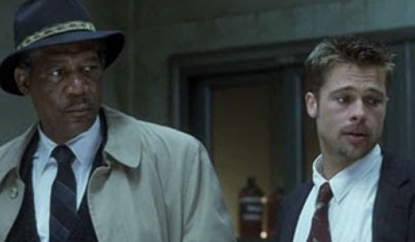 Morgan Freeman and Brad Pitt in Se7en