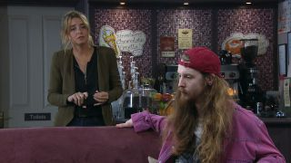 Suspicious Charity Dingle wants to know what Ryan's up to
