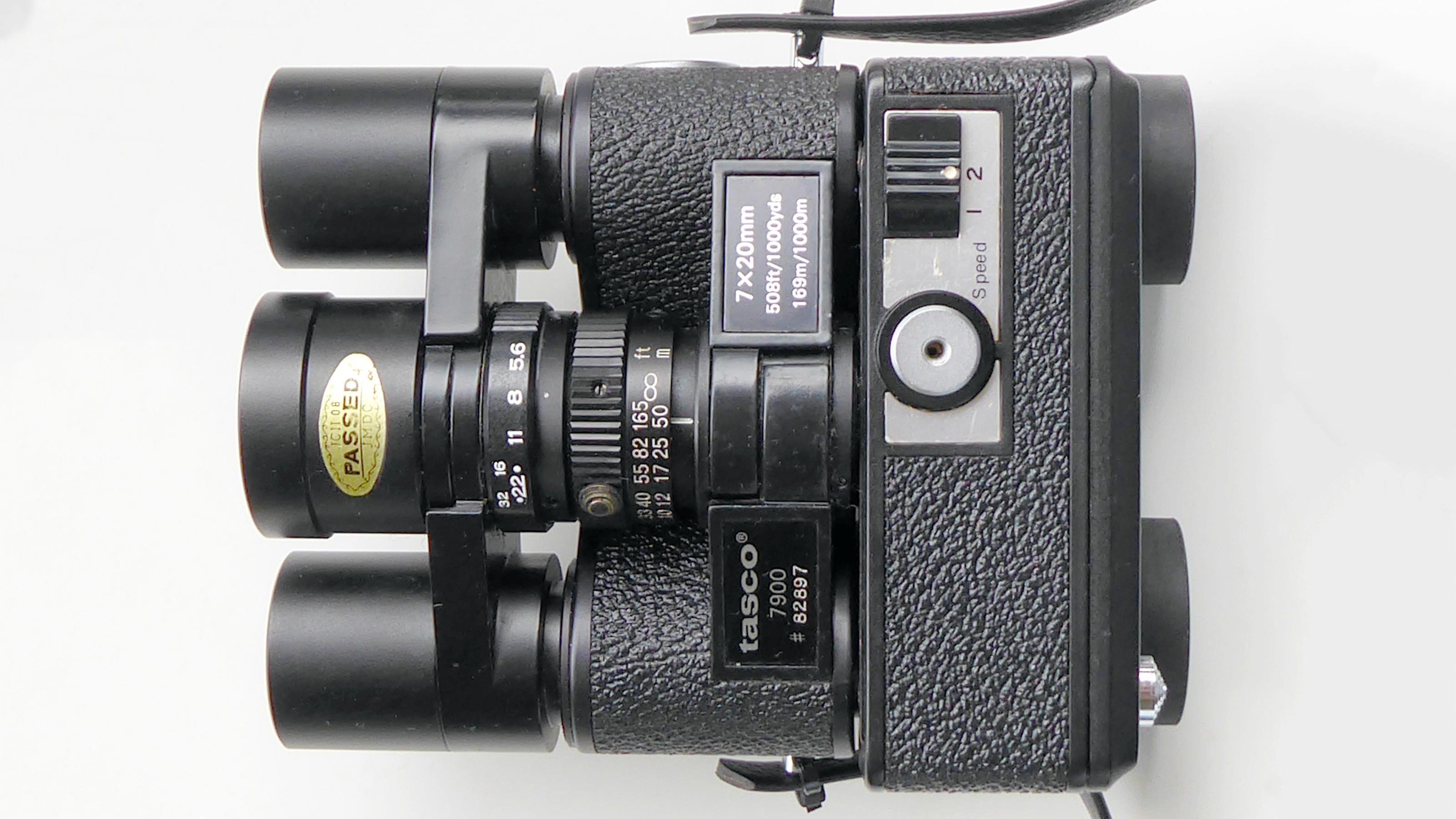 The top of the Tasco 7900 binocular camera