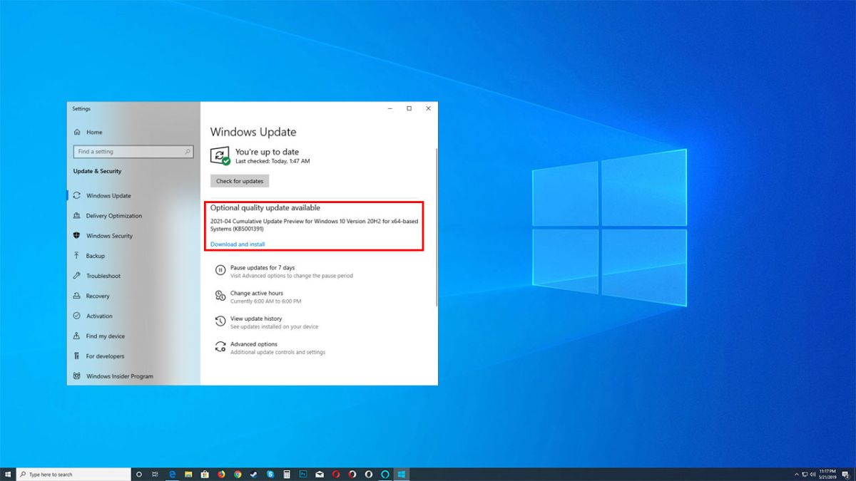 If your CPU usage is inexplicably spiking, try installing this optional Windows 10 update