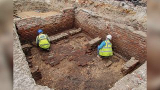 The excavations also revealed two brick beer cellars, which are thought to have belonged to an inn at the site.