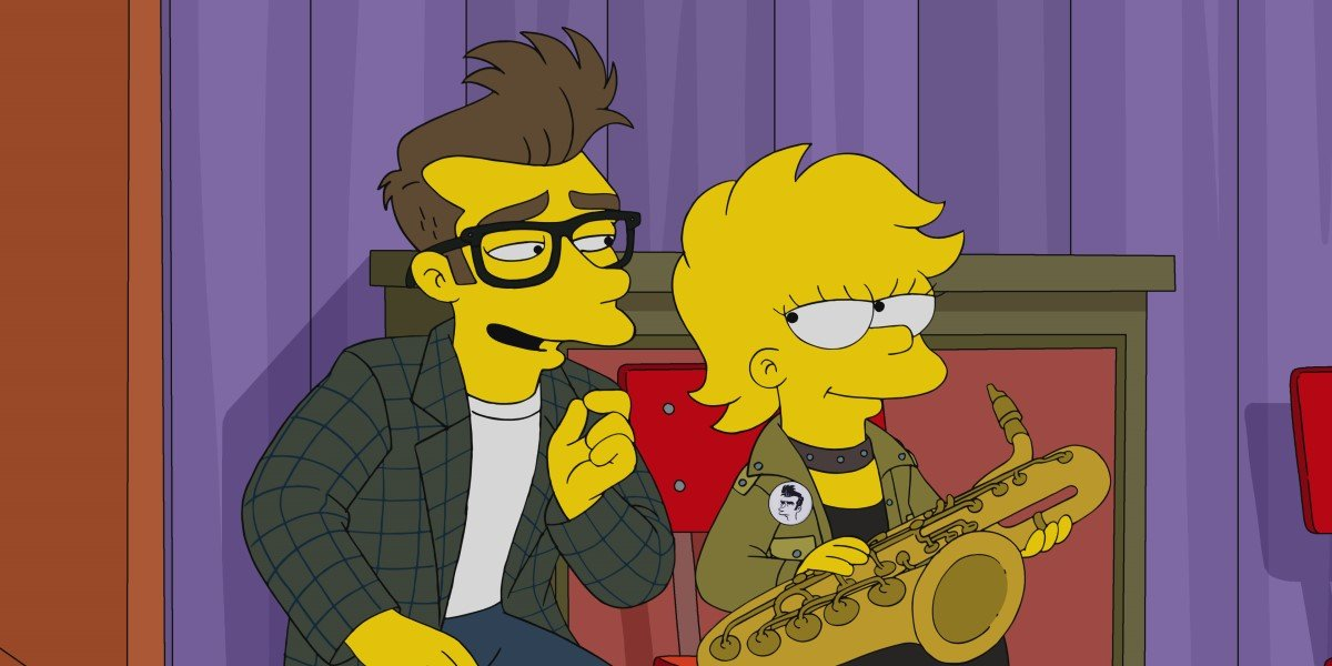benedict cumberbatch's quilloughby and lisa simpson in the simpsons season 32
