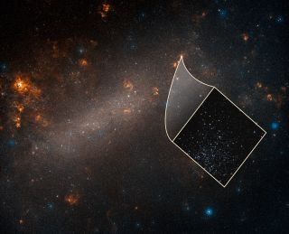 an image of the large magellanic cloud showing cosmic expansion rate discrepancy