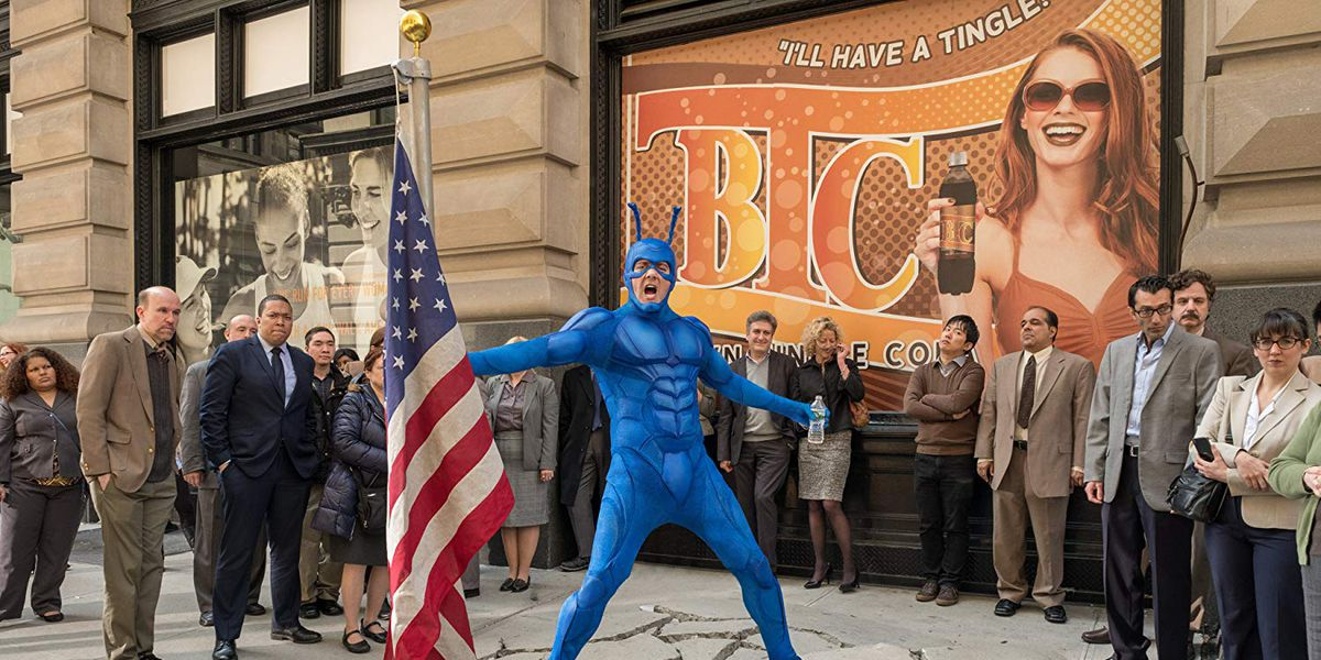 The titular Tick in The Tick on Amazon Prime.