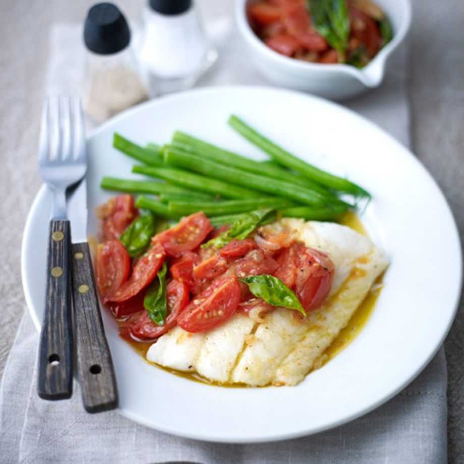 Haddock with Hot Chopped Tomato Sauce Recipe