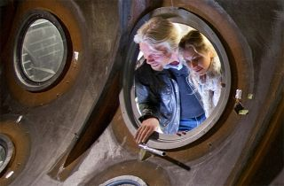 Richard Branson and Daughter Holly Inspect Second Ship
