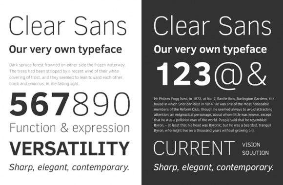 Best free fonts: Clear sans