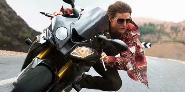 Tom Cruise riding a motorcycle