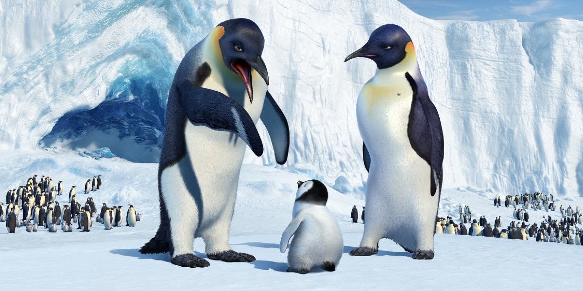 Memphis, Mumble, and Norma Jean in Happy Feet