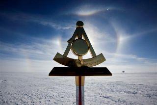 Sundogs over the South Pole.