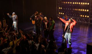 The Clan makes big moves for Wu domination. Rebel (Uyoata Udi), Shotgun (Dave East), Gary (Johnell Young), Sha (Shameik Moore), Ason (TJ Atoms), Dennis (Siddiq Saunderson), and Bobby (Ashton Sanders), shown.