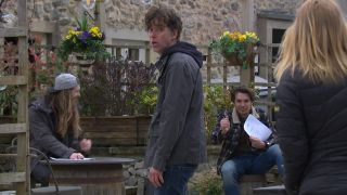 Marlon tries to lay down the law in Emmerdale