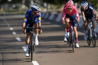 ABU DHABI UNITED ARAB EMIRATES FEBRUARY 21 Joao Almeida of Portugal and Team Deceuninck QuickStep during the 3rd UAE Tour 2021 Stage 1 a 176km stage from Al Dhafra Castle to Al Mirfa UAETour on February 21 2021 in Abu Dhabi United Arab Emirates Photo by Tim de WaeleGetty Images