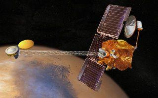 Mars Odyssey spacecraft artist