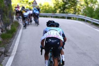 SEGA DI ALA ITALY MAY 26 Aleksander Vlasov of Russia and Team Astana Premier Tech White Best Young Rider Jersey during the 104th Giro dItalia 2021 Stage 17 a 193km stage from Canazei to Sega di Ala 1246m UCIworldtour girodiitalia Giro on May 26 2021 in Sega di Ala Italy Photo by Tim de WaeleGetty Images