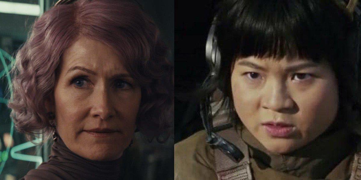 Admiral Holdo and Rose Tico in Star Wars: The Last Jedi