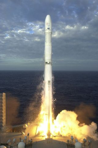 Sea Launch Rocket Orbits Radio Satellite