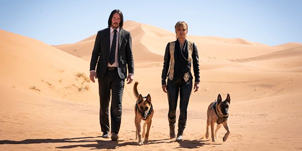 John Wick and Sofia in the desert in John Wick 3