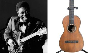 B.B. King and his childhood parlor acoustic guitar
