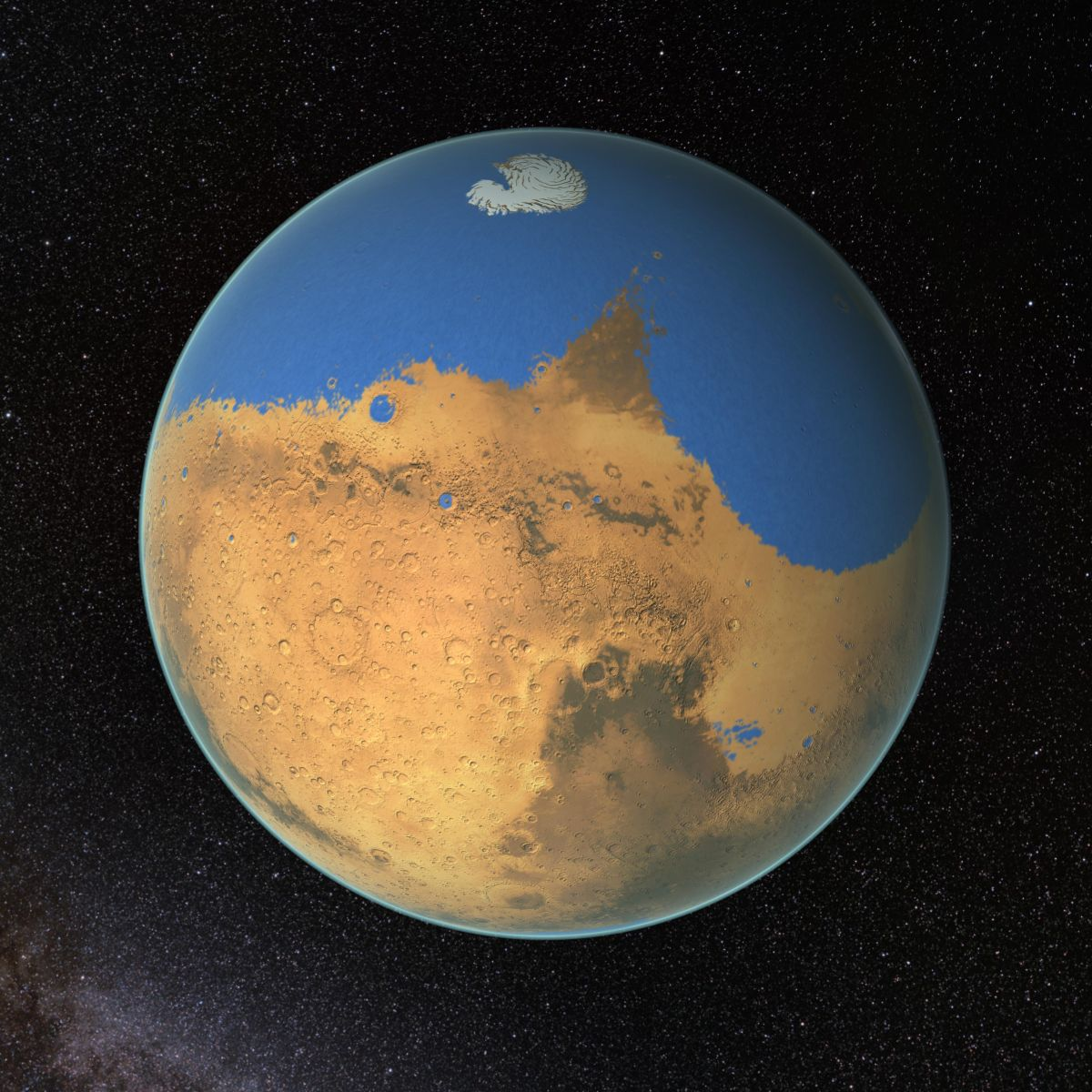 Rare Meteorites May Have Formed During Large Impact on Wet Mars