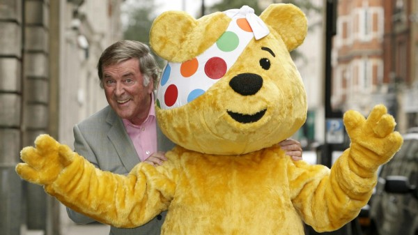 Sir Terry Wogan with Pudsey for Children In Need