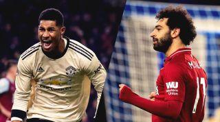 Marcus Rashford Mo Salah Man United Liverpool
