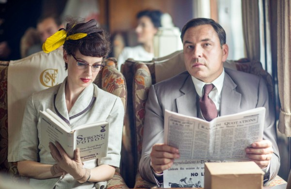 David Walliams and Jessica Raine as Tuppence and Tommy Beresford in Partners In Crime