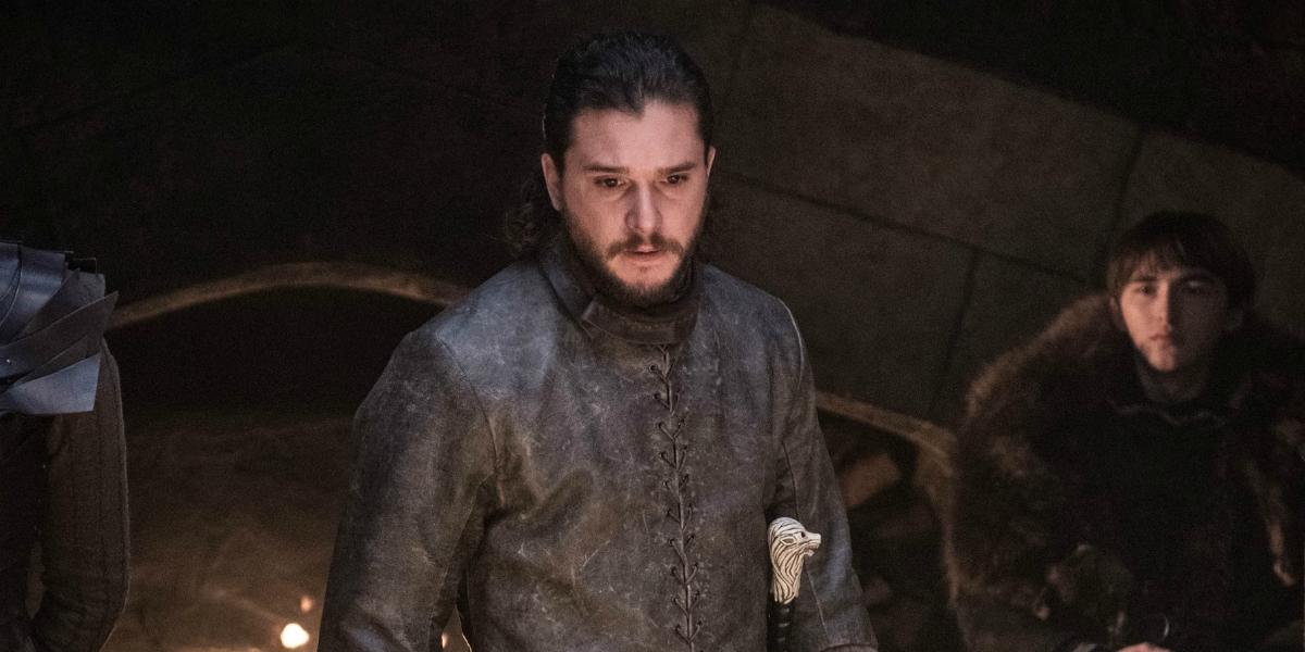 Game of Thrones Kit Harington Jon Snow Isaac Hempstead-Wright Bran Stark HBO