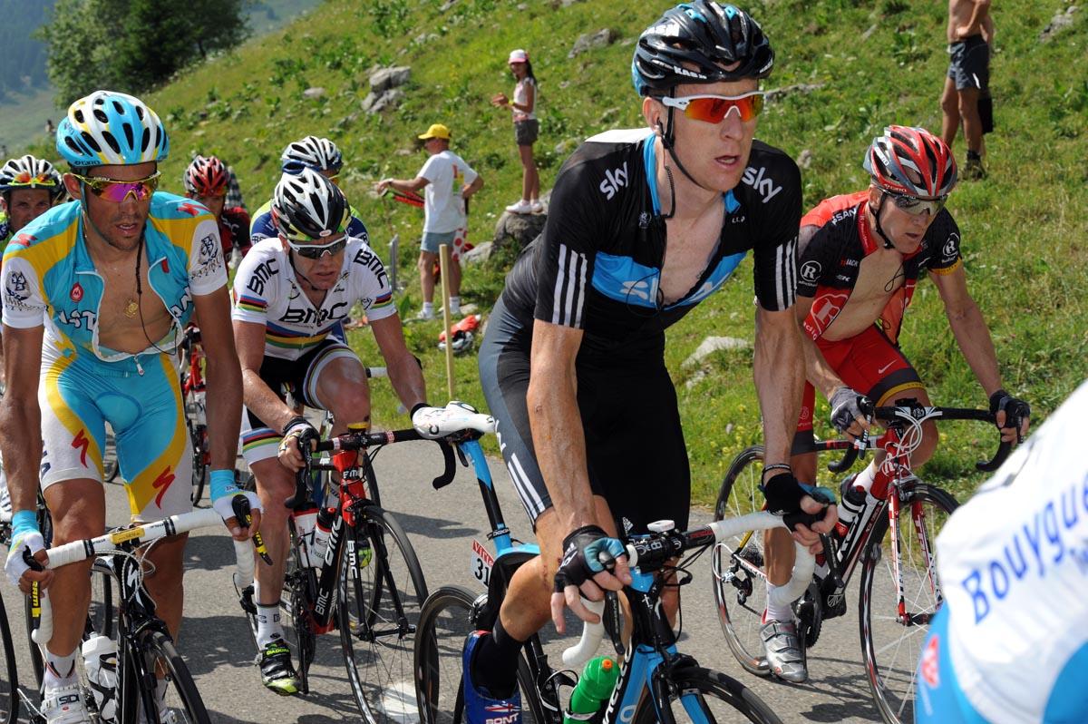 Bradley Wiggins and Alberto Contador, Tour de France 2010, stage 8
