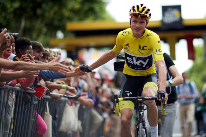 Chris Froome (Sky) before stage 10 of the Tour de France