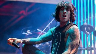 Bring Me The Horizon singer Oli Skyes on stage