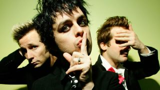 a press shot of green day