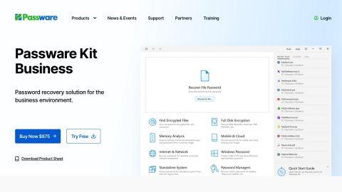 Passware Kit's homepage